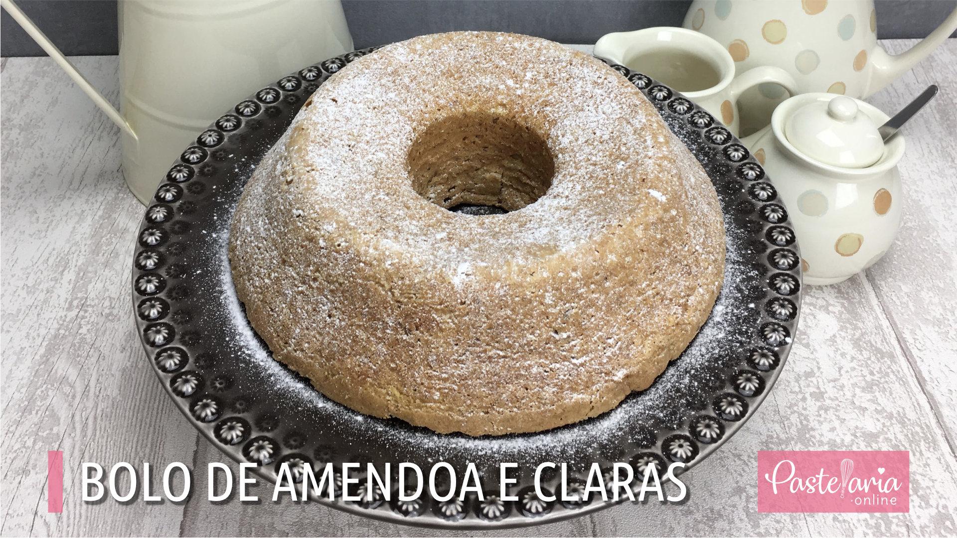 Video do bolo de amendoa e claras