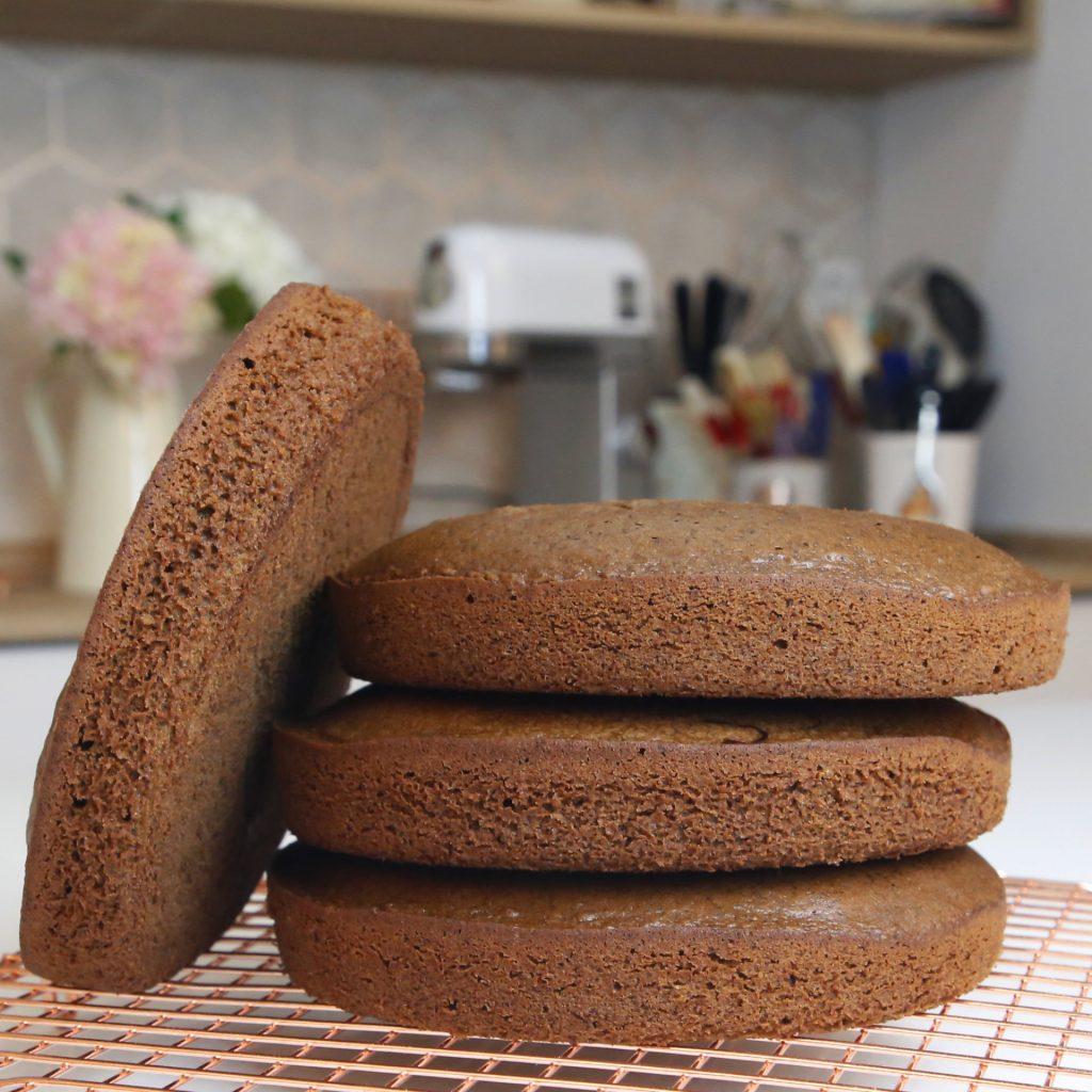 Camadas de bolos de chocolate