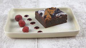 brownie frutos vermelhos