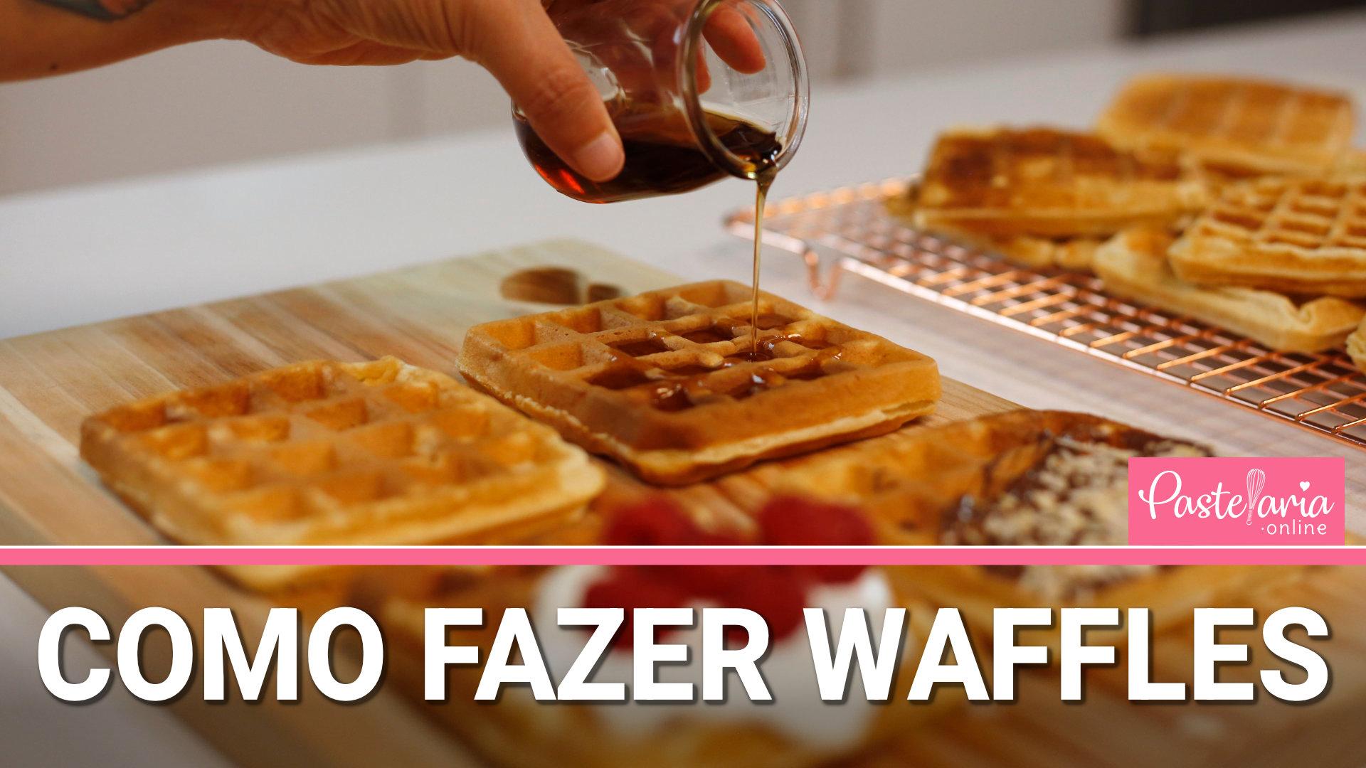 como fazer waffles