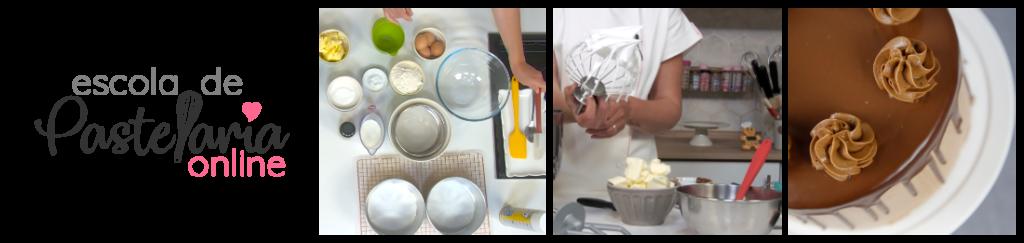 Escola online de pastelaria e confeitaria